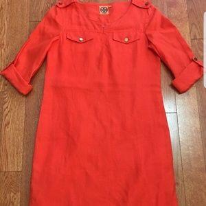 Tory Burch 100% Linen Shirt Dress